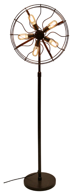 Ozzy Floor Lamp, Antique Finish.