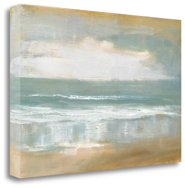 """shoreline"" By Caroline Gold, Giclee Print On Gallery Wrap Canvas, Ready To Hang."