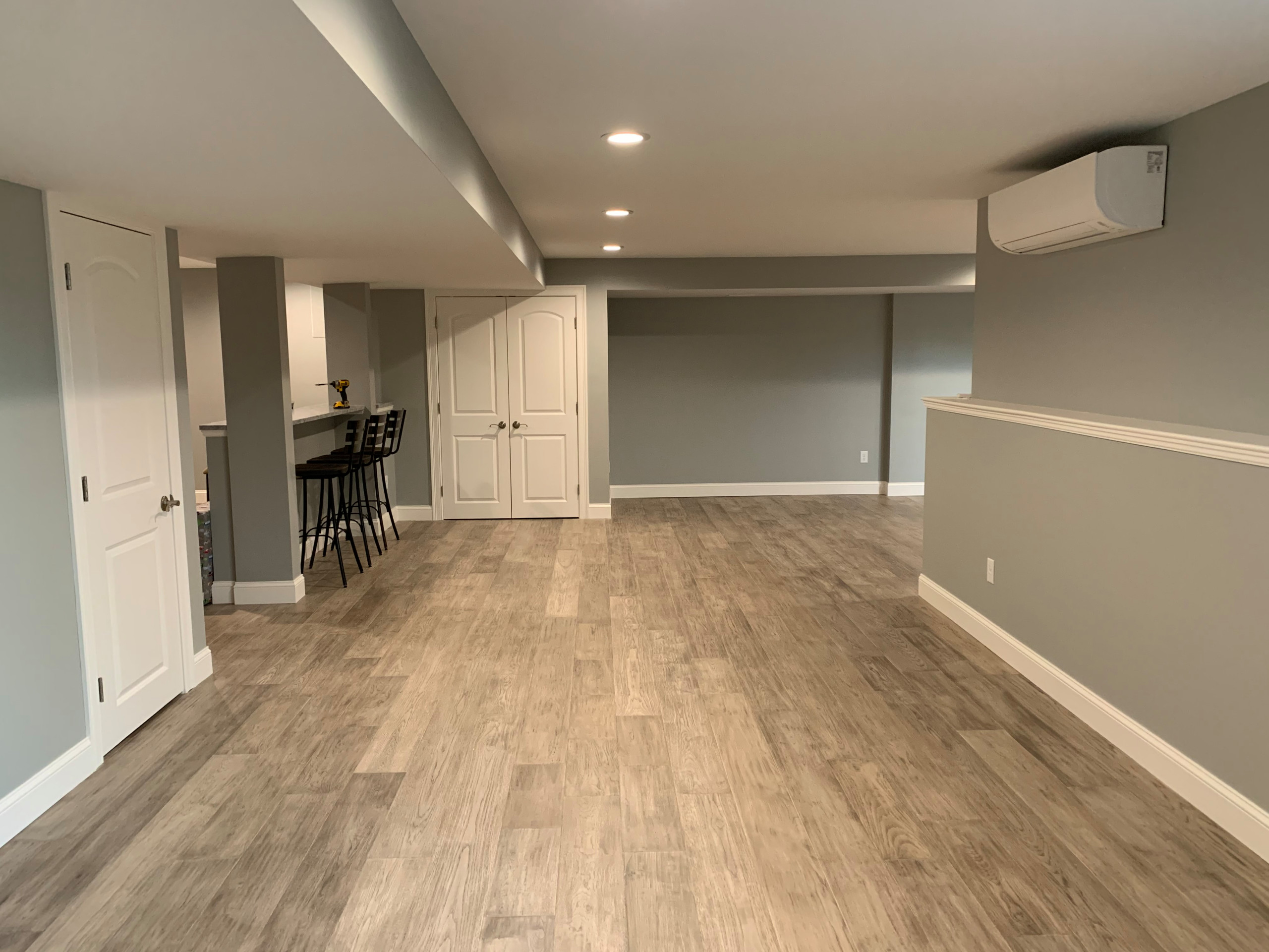 Basement Remodel: Home Bar & Theater