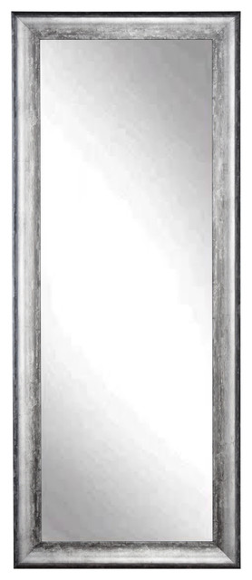 "BrandtWorks 34""x72"" Floor Mirror, Midnight Silver"