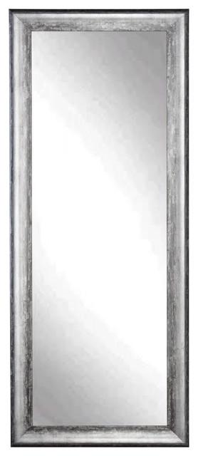 """BrandtWorks 34""""x72"""" Floor Mirror, Midnight Silver"""