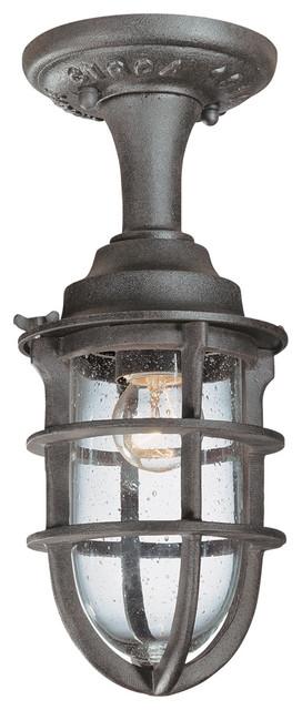Wilimington 1-Light Outdoor Ceiling Lights, Nautical Rust.