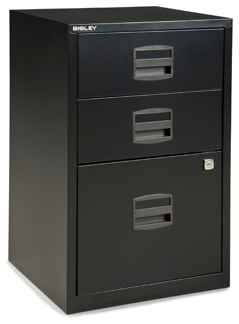 Bisley Bisley Three Drawer Steel Home or Office Filing Cabinet - Filing Cabinets | Houzz