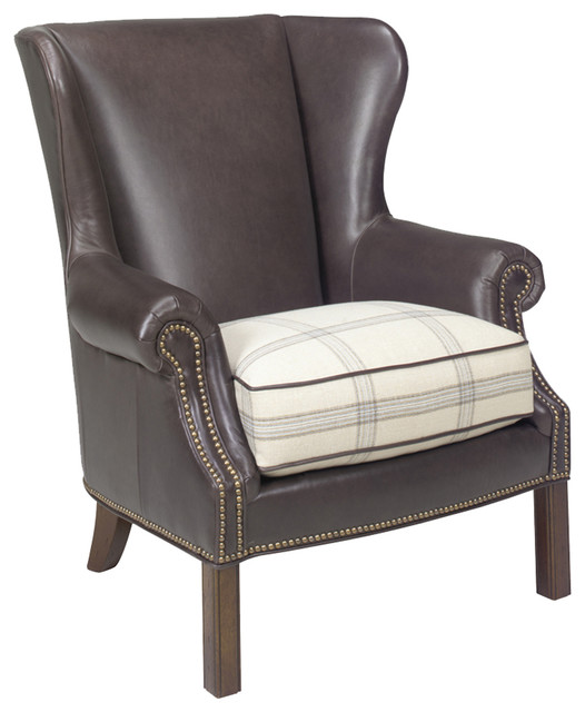 Lexington Coventry Hills Logan Leather Wing Chair