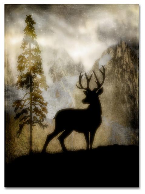 """Lightboxjournal &x27;mystic Deer&x27; Canvas Art, 24"""" X 32""""."""