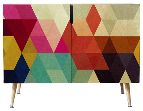 Three Of The Possessed Modele 7 Credenza, 38x20.
