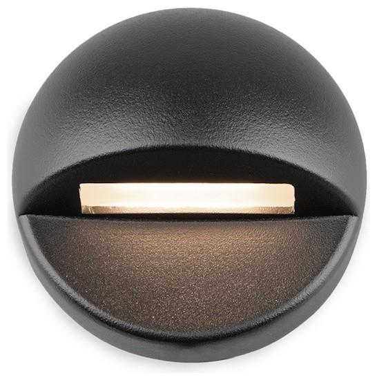 Wac-Lighting Landscape Led 12v Rnd Deck & Patio 3000k Soft, Black, 3011-30bk.