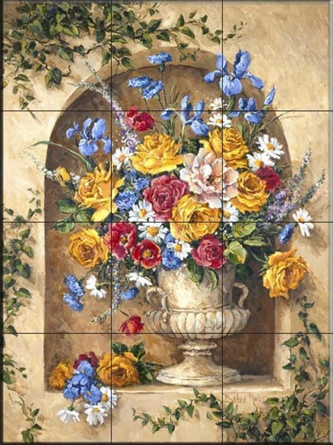 Tile Mural, Neo Classic Alcover Ii by Barbara Mock