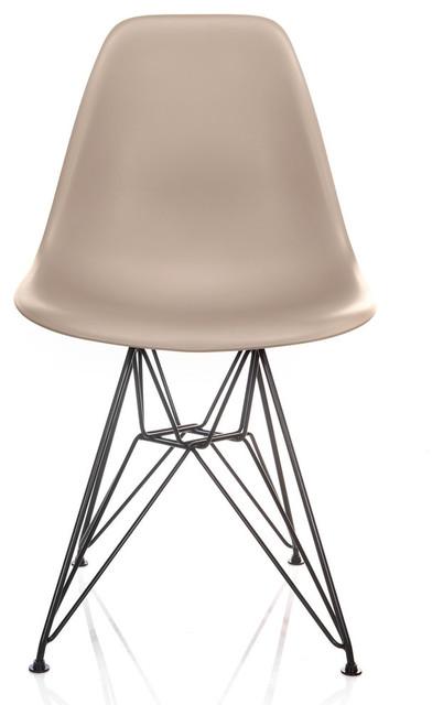 Awe Inspiring Nature Series Cream Beige Dsr Mid Century Modern Dining Chair Black Steel Creativecarmelina Interior Chair Design Creativecarmelinacom
