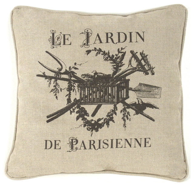 French Country Le Jardin De Parisienne Square Toss Pillow 40x40 Impressive French Country Decorative Pillows