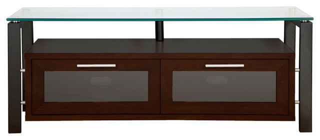 Plateau TV Stand With Clear Glass - Contemporary - Entertainment Centers And Tv Stands - by ...