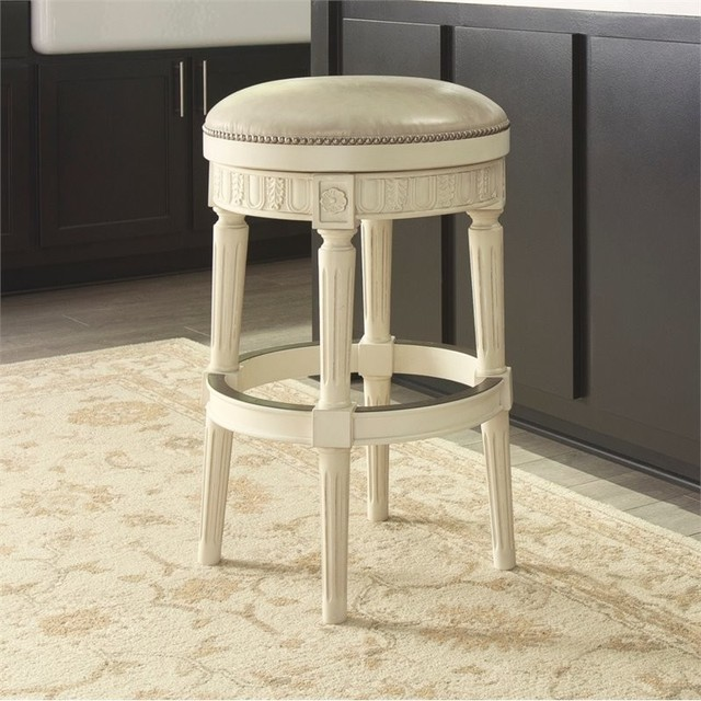 Ashley Crenlam 31 Upholstered Swivel Bar Stool Antique White
