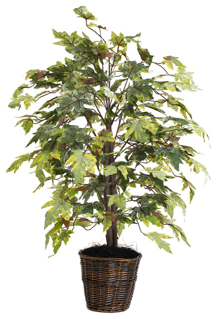 4 Frosted Maple Bush Tropical Artificial Plants And Trees By