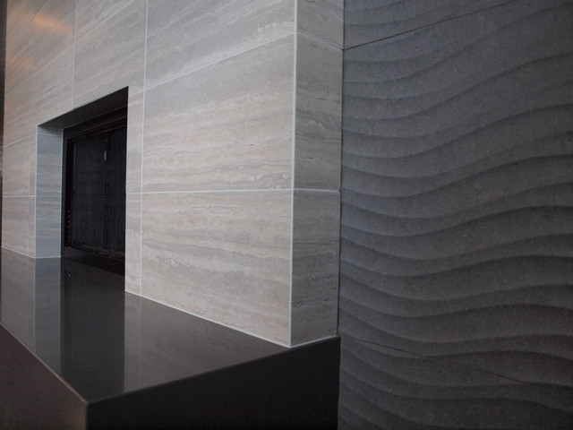 Contemporary Tile Fireplace - Contemporary - Chicago - by Normandy ...