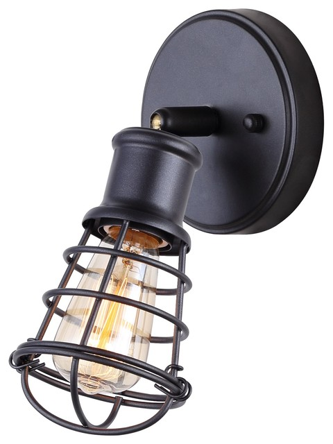 Canarm OTTO 1-Light Ceiling/Wall With Cage Shades, Graphite