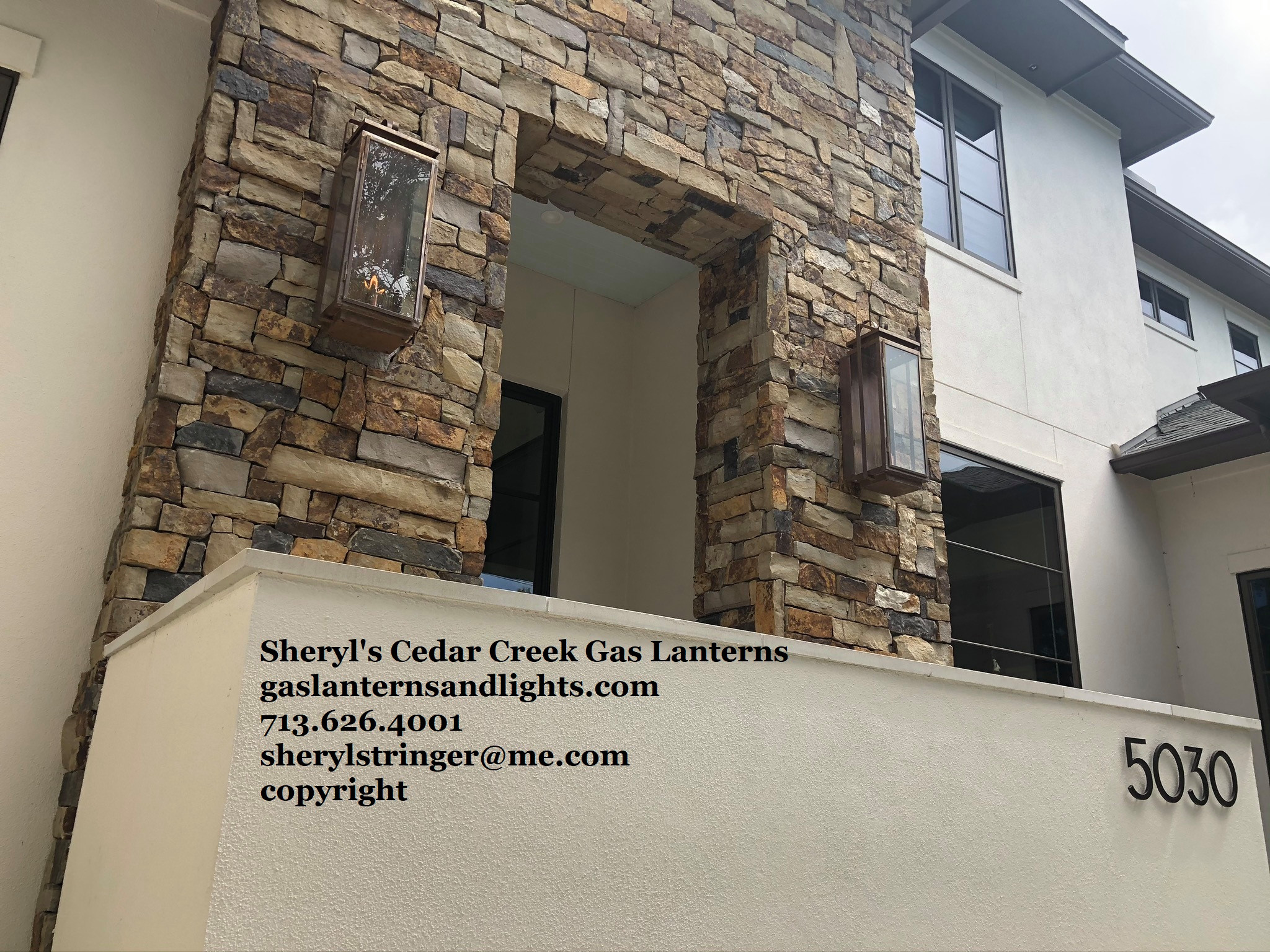 Sheryl's Cedar Creek Transitional Gas Lantern