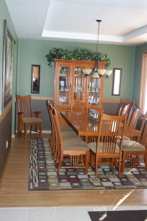 golden oak trim dark wood floors - Dining Room Paint Colors Dark Wood Trim