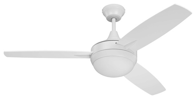 """Craftmade 48"""" Targas Ceiling Fan, White, Remote Control."""