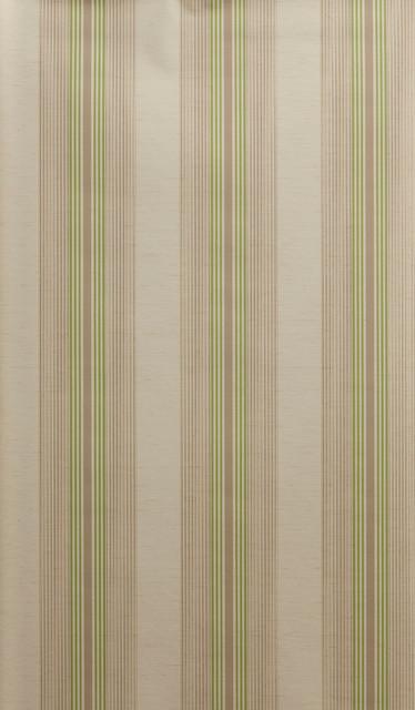 Tan Green Vertical Striped Wallpaper Bolt