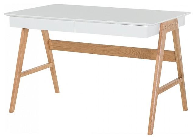 Sheslay White 2-Drawer Desk