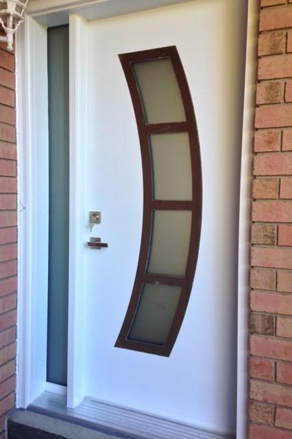 Modern front entry doors modern front doors toronto for Small home main door