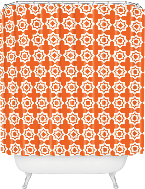 DENY Designs Khristian A Howell Moroccan Mirage Orange Shower Curtain