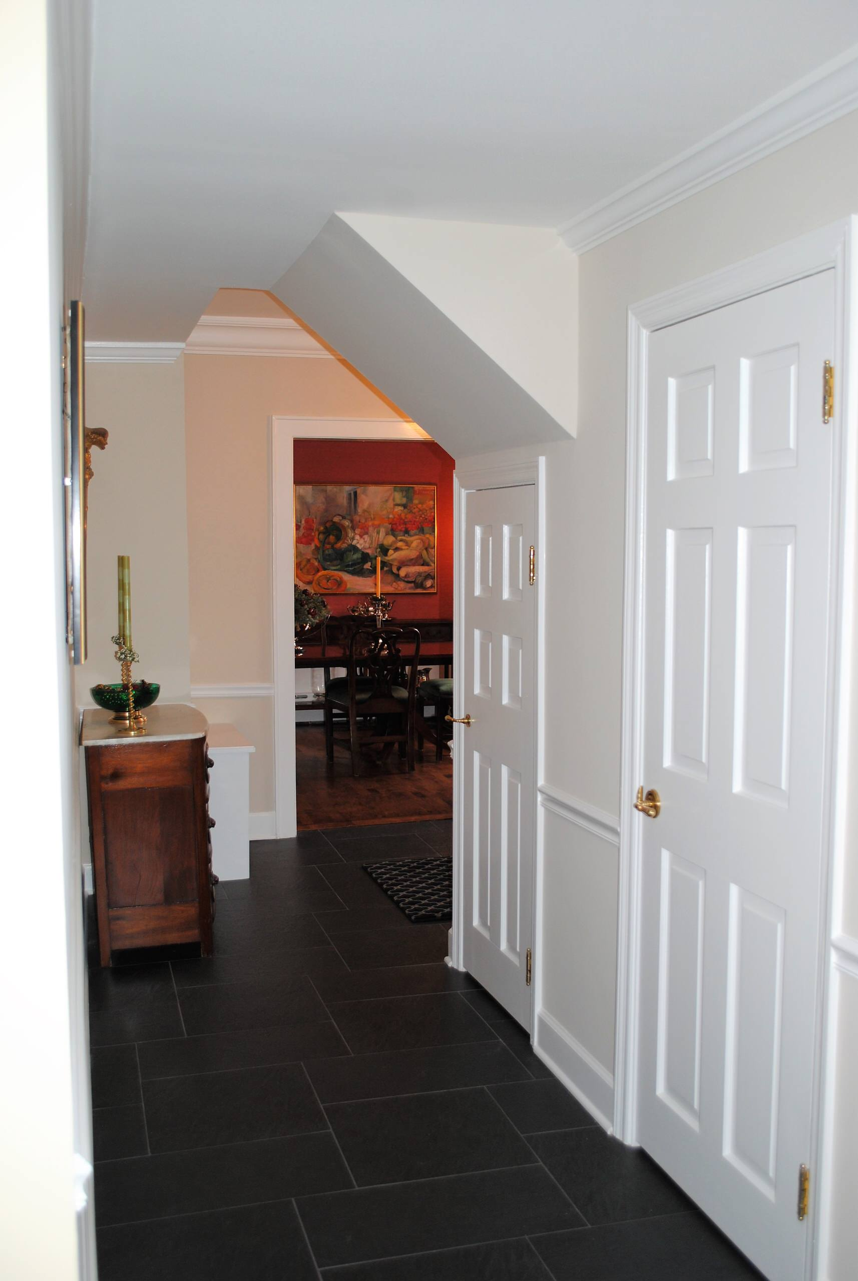 Lake Forest Home - Fireplace, Staircase and Hallway