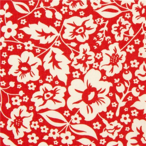 cute red flower fabric by Riley Blake from the USA