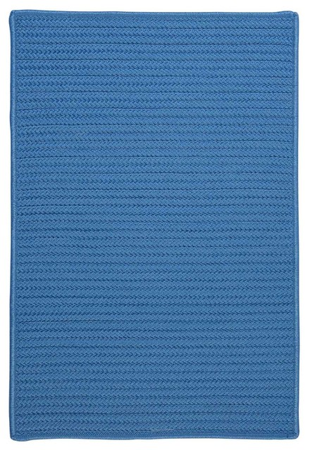 Colonial mills solid textured braided rug blue ice for 10x10 carpet