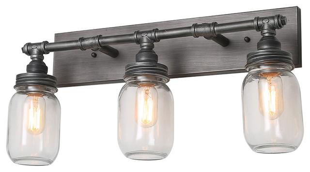 Mason Jar Bathroom Vanity Light Easy