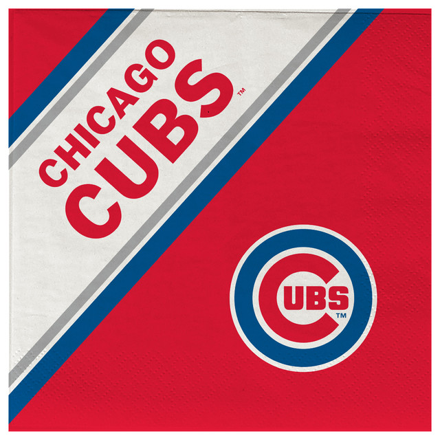 Chicago Cubs Disposable Napkins Pack Of 20 Contemporary