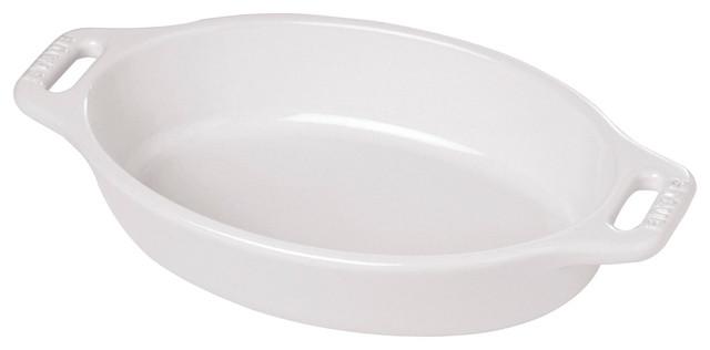 "Staub Ceramic 6.5"" Oval Baking Dish, Basil."