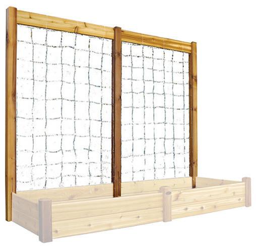 "Gronomics Raised Garden Bed Trellis Kit 95""w X 80""h Safe Finish."