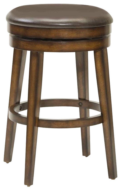 Hillsdale Beech Land Backless Swivel 26.5 Inch Counter Height Stool.