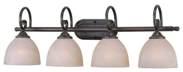 Craftmade Raleigh 4-Light Bathroom Lighting Fixture, Old