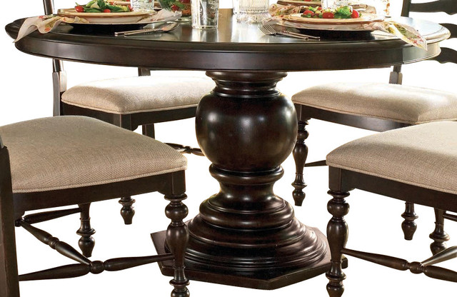 Paula Deen Home Round Pedestal Table In Tobacco Furniture