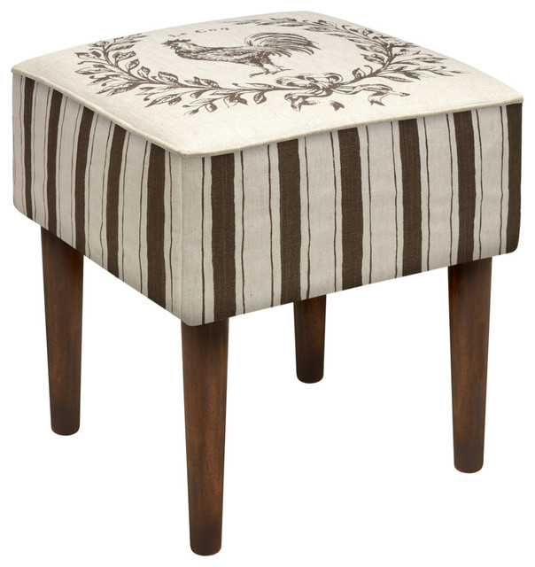 Enjoyable Rooster Modern Vanity Stool Machost Co Dining Chair Design Ideas Machostcouk
