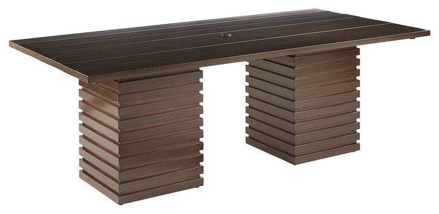 A.r.t. Furniture Epicenters Outdoor Cypress Rectangular Dining Table.