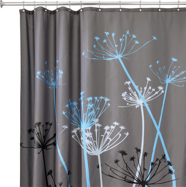 Interdesign Gray And Blue Shower Curtain Contemporary Shower Curtains By Jensen Byrd Co Inc