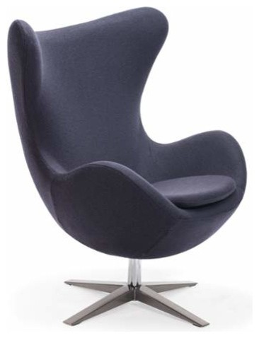 Elegant Zuo Modern Skien Occasional Chair In Iron Gray Contemporary  Armchairs And Accent