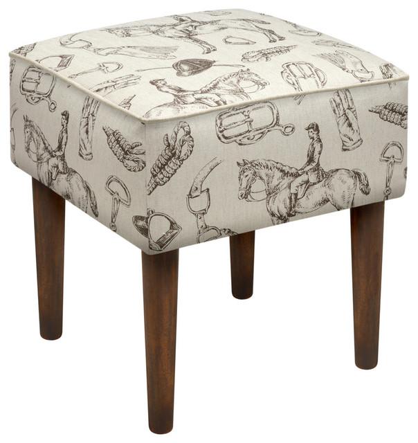 equestrian modern vanity stool transitional footstools