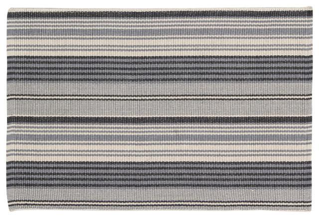 Handwoven Multicolour France Cotton Rug, 60x90 cm