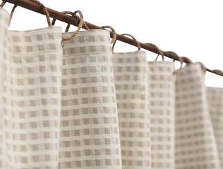 Birch Cotton Linen Shower Curtain Birch Natural