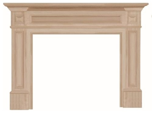 """The Classique 50"""" Fireplace Mantel, Unfinished."""