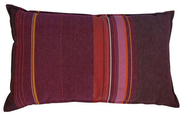 Decorative Pillows Retail : - Pink, Orange and Purple Striped Pillow - $275 Est. Retail - $100 on Chairish.com & Reviews Houzz