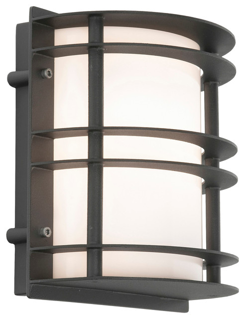 Stockholm Flush Outdoor Wall Light, Black and Opal