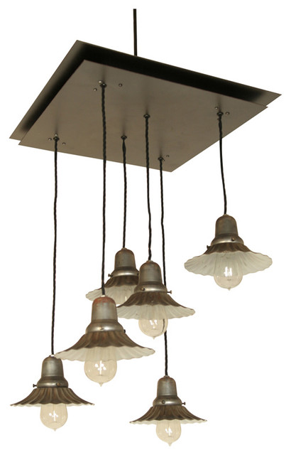 Industrial Five Pendant Ceiling Light