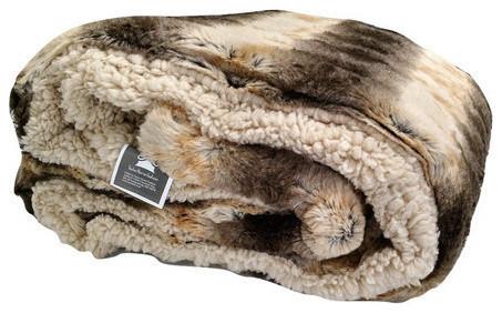 Tache Safari Faux Fur Throw Blanket.