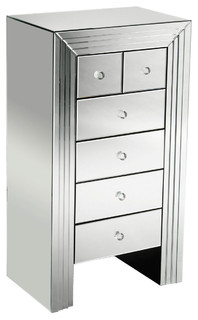 Premier Housewares Mirrored New Line Chest of Drawers