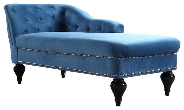 Elegant Kid S Velvet Chaise Lounge For Living Room Or Bedroom Blue